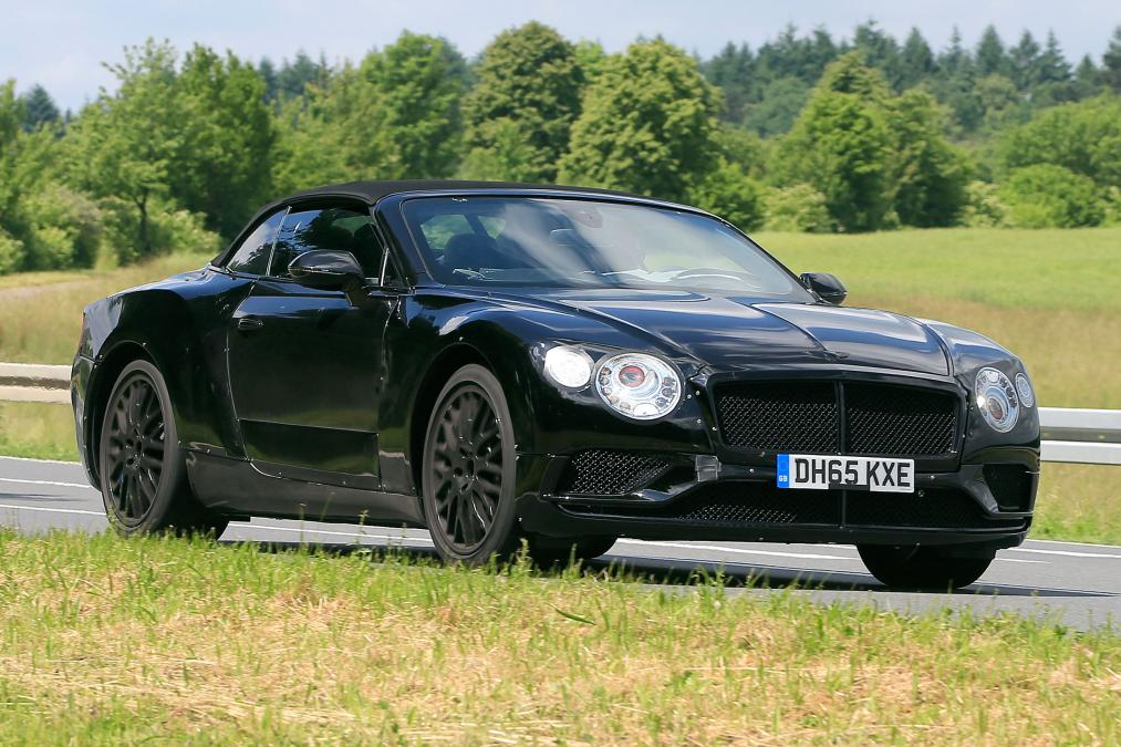 2017 bentley continental gtc cabrio model spied testing. Black Bedroom Furniture Sets. Home Design Ideas