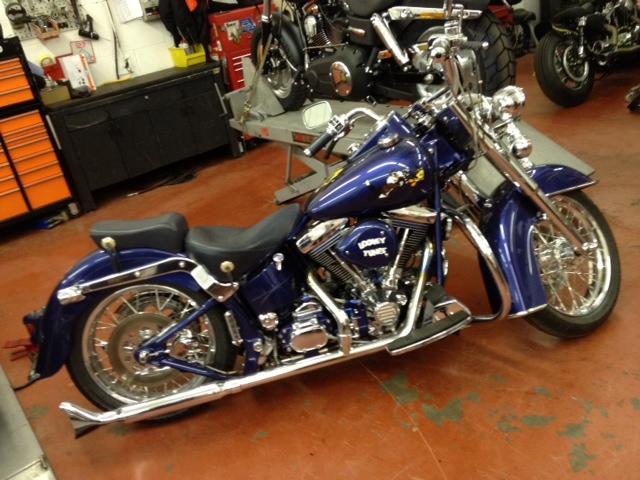 Dee Visits Harley Davidson Showroom