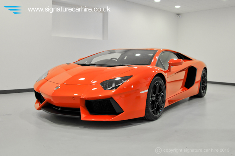 Orange Lamborgh... Lamborghini Aventador Orange