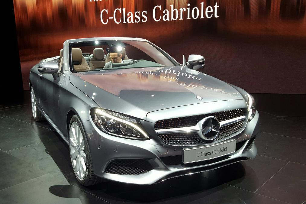 Mercedes benz drop the top on the c class and launch the for Drop top mercedes benz