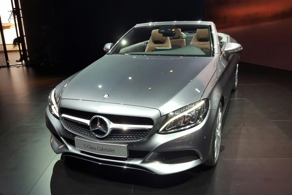 Mercedes benz drop the top on the c class and launch the for Mercedes benz drop top