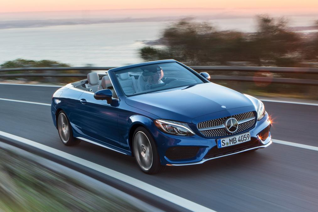 Mercedes benz drop the top on the c class and launch the for Drop top mercedes benz prices
