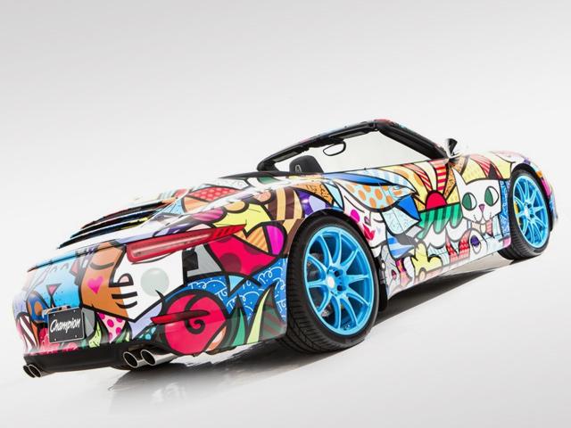 Porsche Art Car Headlines At The Art Basel Festival