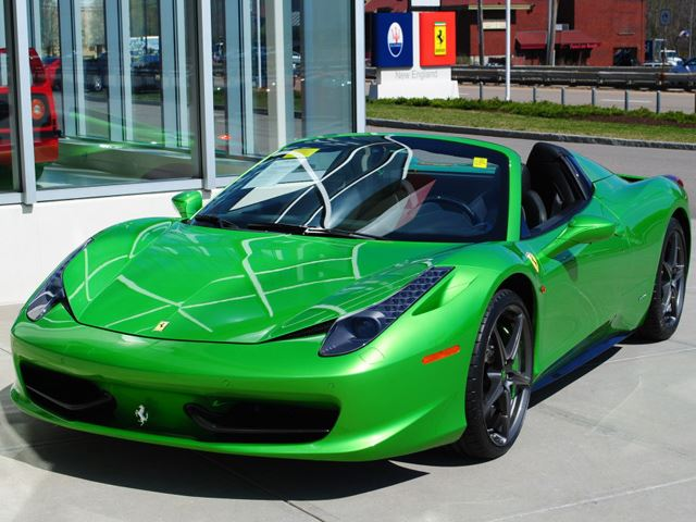 Lime Green Ferrari 2