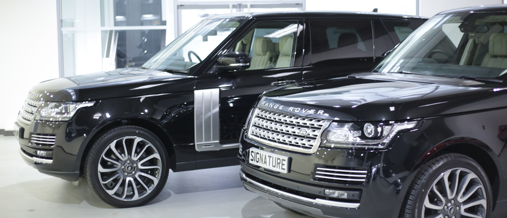 two new long wheel base range rovers for the signature experience centre. Black Bedroom Furniture Sets. Home Design Ideas