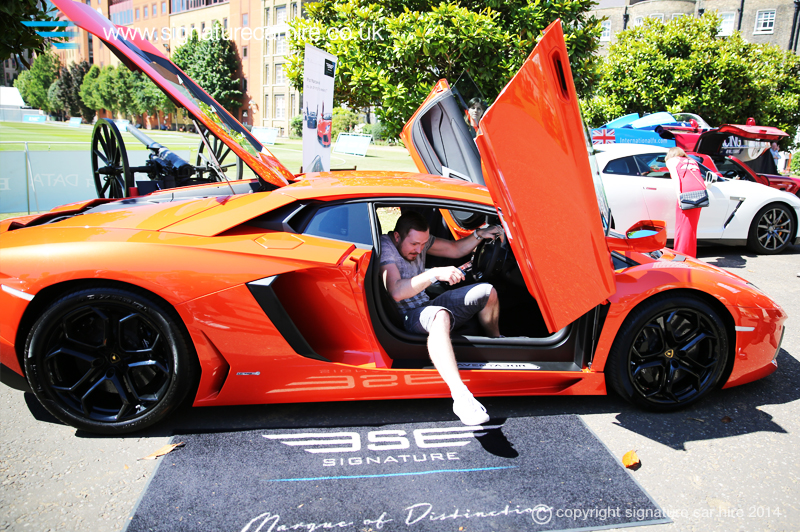 signature car hire lamborghini aventador was the star at grand prix ball. Black Bedroom Furniture Sets. Home Design Ideas