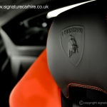 signature-car-hire-lamborghini-huracan-leather-seats-with-logo