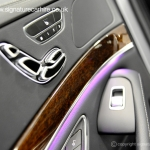 new-mercedes-s350-silver-window-door-controls