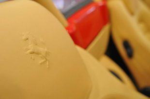 ferrari-F430-Spider-leather-seat-badge