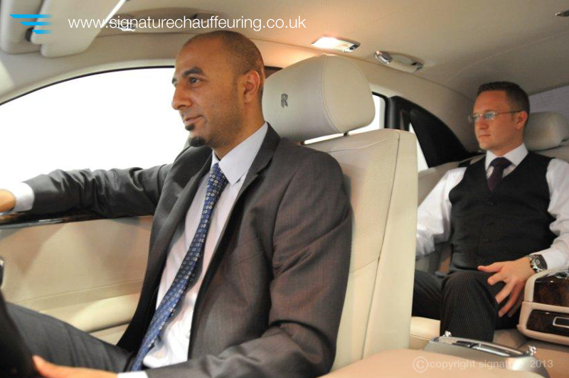 Signature Chauffeur and Client