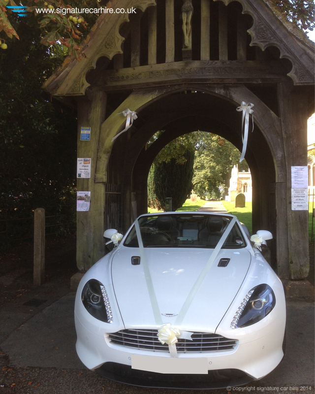 Signature Wedding Car Hire Aston Martin Virage Volante