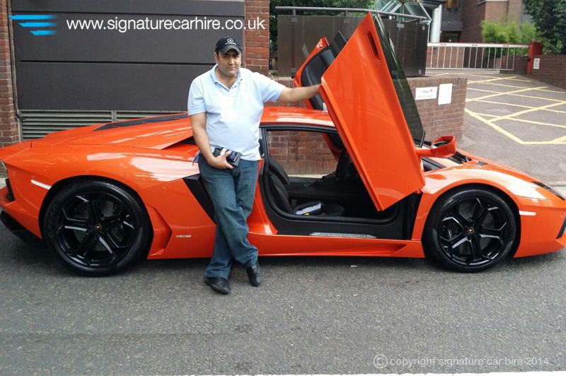 Vip Car Hire Client Enjoys Signature S Lamborghini Aventador