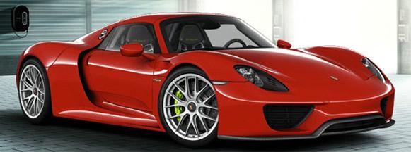 porsche-918 spyder-red