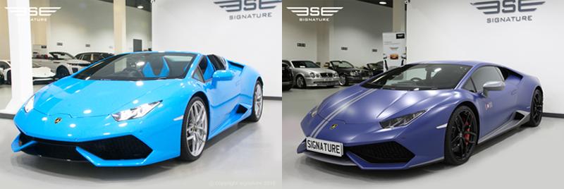 Lamborghini Hire Cars The Battle Of The Blues
