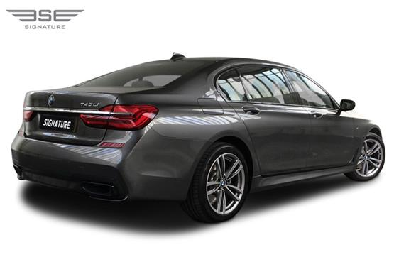 BMW 740i M LWB Rear Right View