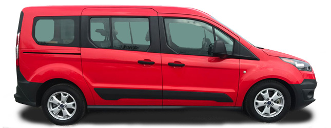 Ford Transit Connect Kombi Left Side View