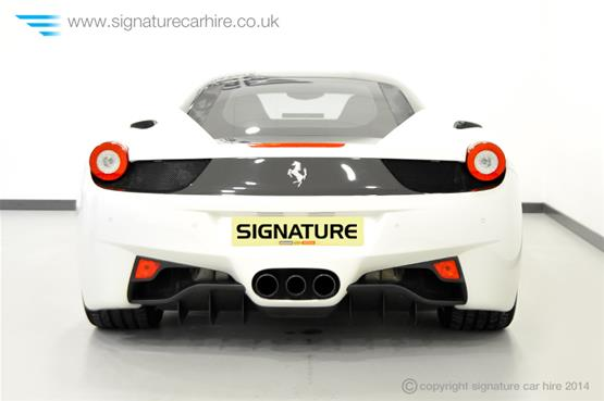 Ferrari 458 Italia Coupe Back View