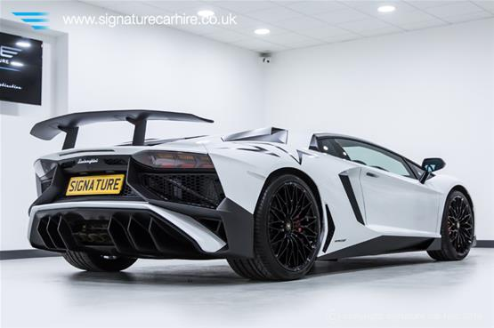 Lamborghini Aventador LP 750-4 SV Right Rear View