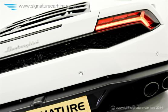 Lamborghini Huracan LP 610-4 logo on the back