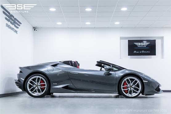 Lamborghini Huracan Spyder Parked Side View