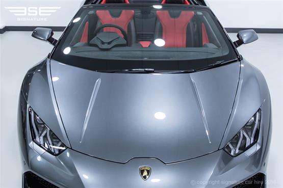 Lamborghini Huracan Spyder Bonnet View