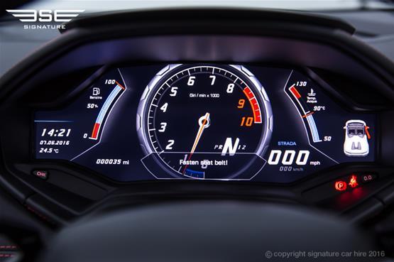 Lamborghini Huracan Spyder Meter Dials