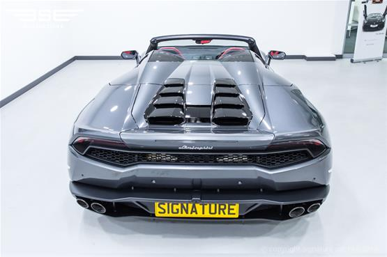 Lamborghini Huracan Spyder Rear Top View