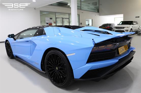 Lamborghini Aventador S Roadster Left Rear View