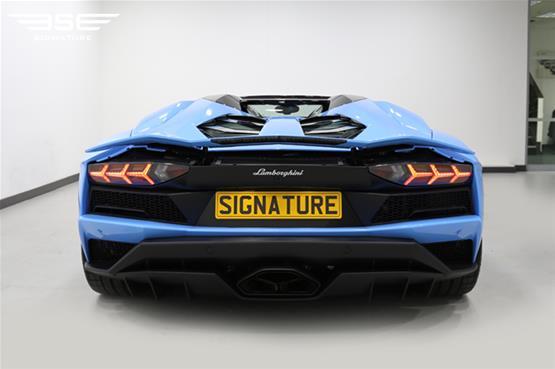 Lamborghini Aventador S Roadster Rear View