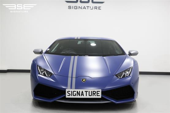 Lamborghini Huracan Avio self-drive hire car front side view