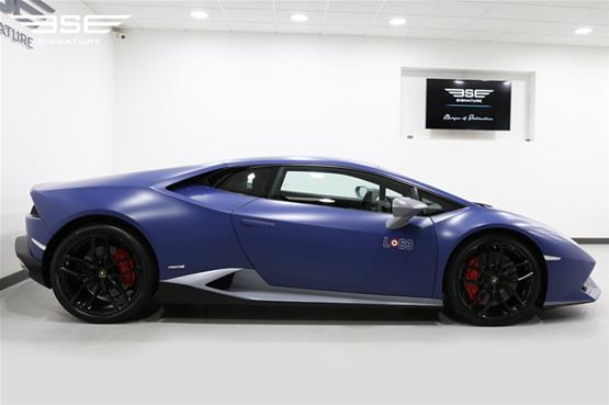 Lamborghini Huracan Avio self-drive hire car left side view