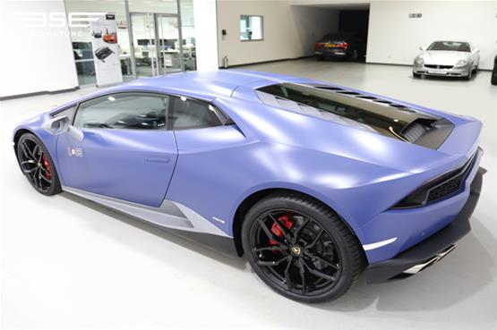 Lamborghini Huracan Avio self-drive hire car front left side view
