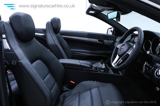 Mercedes Benz E220 AMG Cabriolet Front Interiors