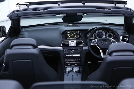 Mercedes Benz E220 AMG Cabriolet Dashboard View