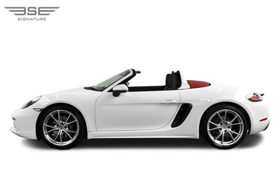 Porsche 718 Boxster Roof Down View