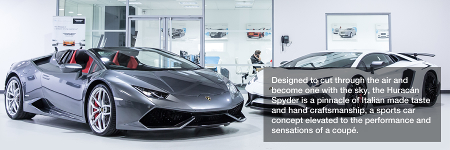 Hire Lamborghini Huracan Spyder Distinctly Fast Supercar