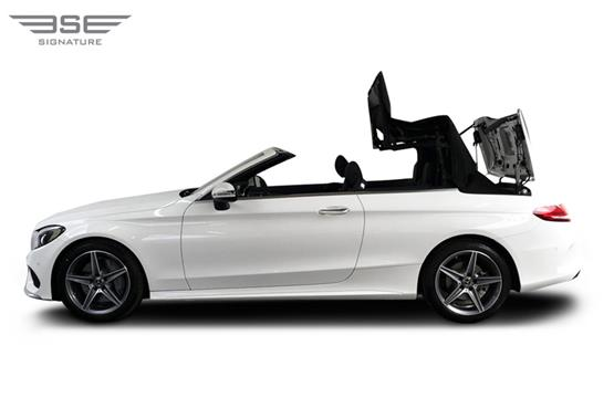 Mercedes C Class Convertible Roof Folding View