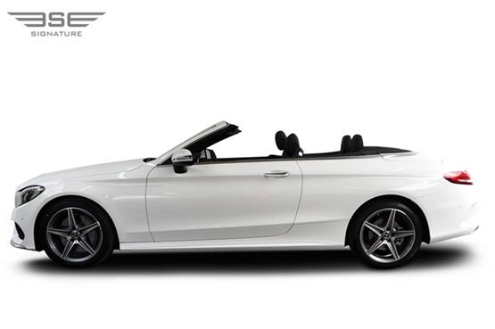 Mercedes C Class Convertible Roof Down View
