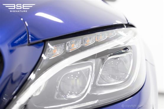 Mercedes C Class Cabriolet Headlight Close Up