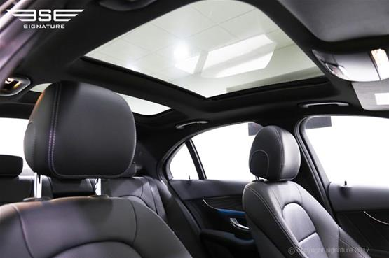 mercedes-c300h-amg-line-roof-interior