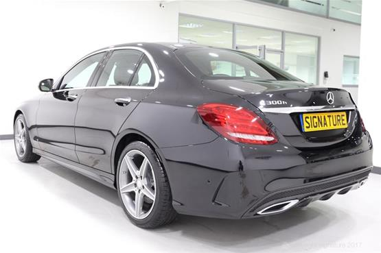 mercedes-c300h-amg-line-side-rear