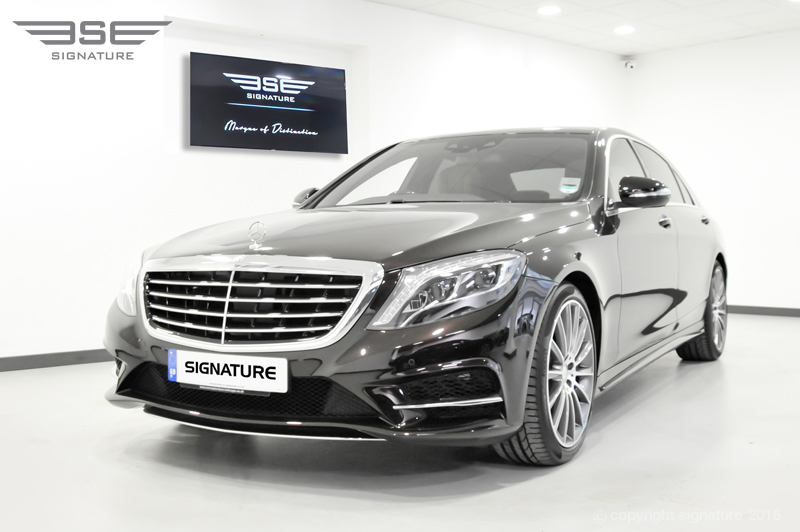 hire black mercedes benz s class s350 bluetec amg with sunroof. Black Bedroom Furniture Sets. Home Design Ideas