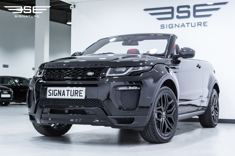 Range Rover Evoque Hse Dynamic Lux Hire Black Convertible Suv In Uk