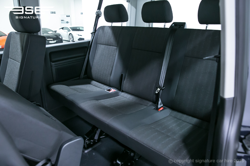Car Rental With Car Seat >> VW Transporter T6 Shuttle - Rent a Spacious People Carrier