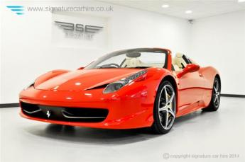 Ferrari 458 Spider Front Side View